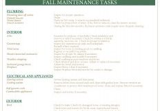 JREG Fall Maintenance List